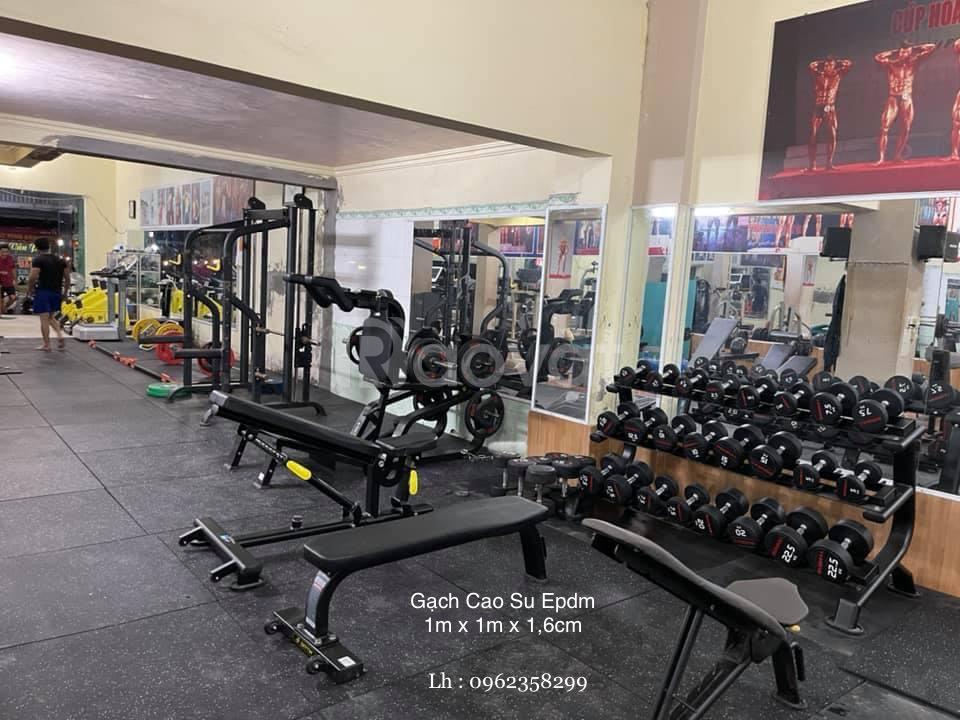 Sàn cao su phòng gym mặt thảm Epdm