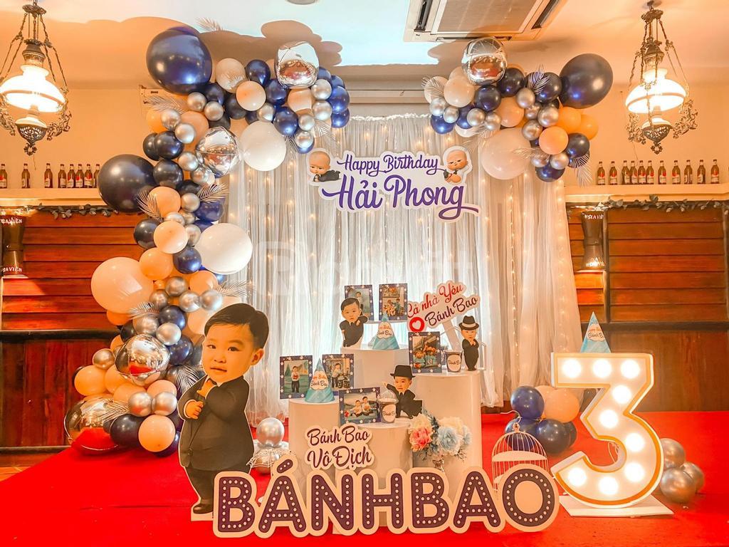 Trang trí sinh nhật cho bé gái tại nhà Hà Nội