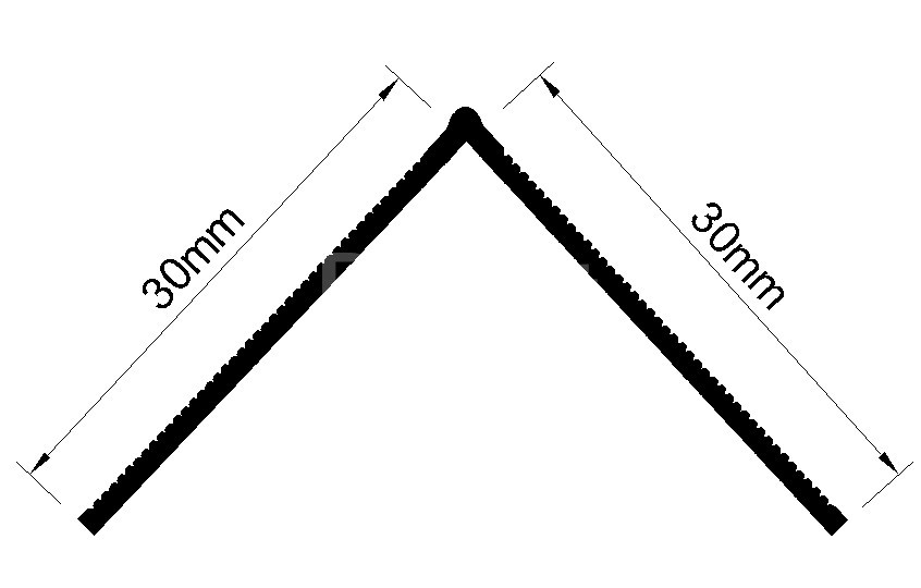 Nẹp nhựa V góc dương dùng trong thi công thạch cao V30