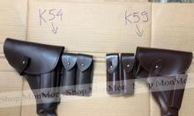 Combo bao súng ngắn K54, K59 kèm bao tiếp đạn bằng da thật