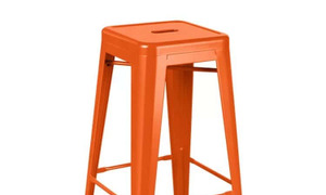 Ghế Tolix Bar không tựa màu cam