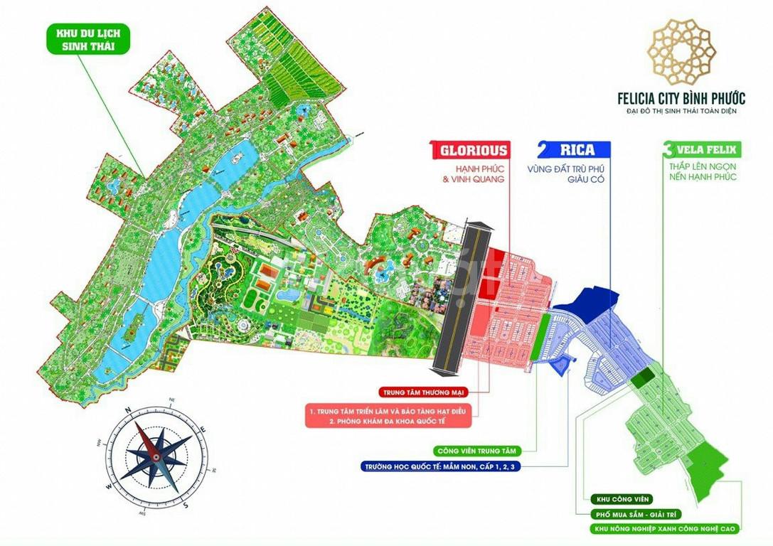 Nhận booking giữ chỗ chỉ 10 tr/nền Đại đô thị Felicia city Bình Phước