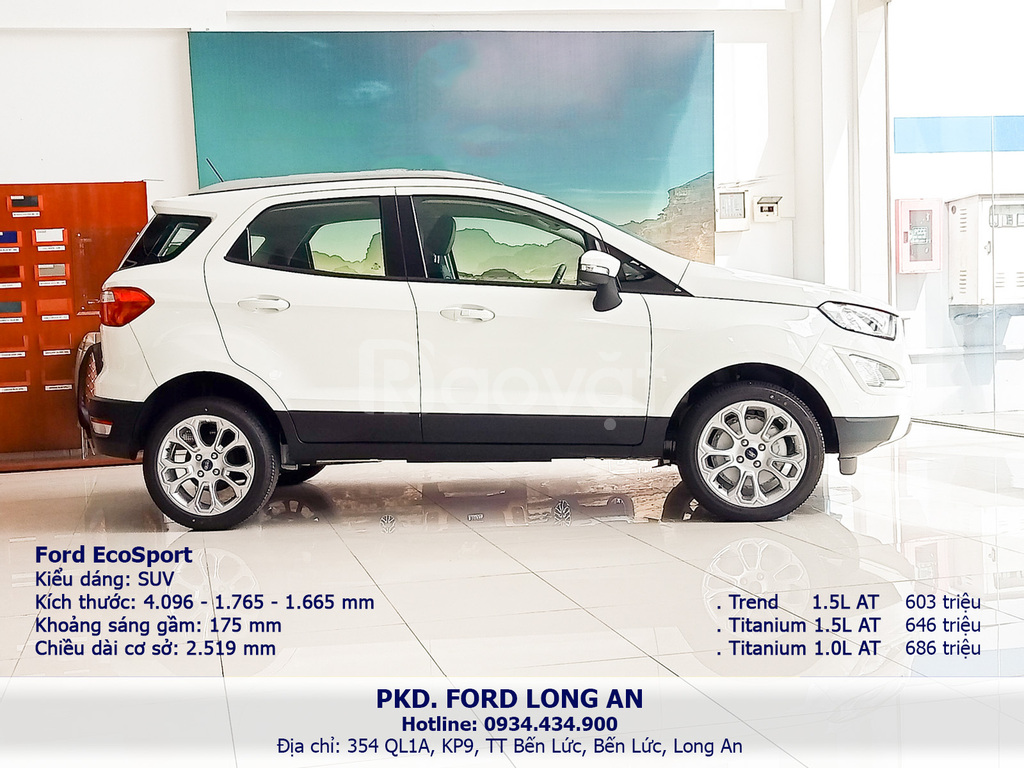 Ford Ecosport Trend 1.5L AT, ô tô 5 chỗ, Ford Long An 0934 343 900