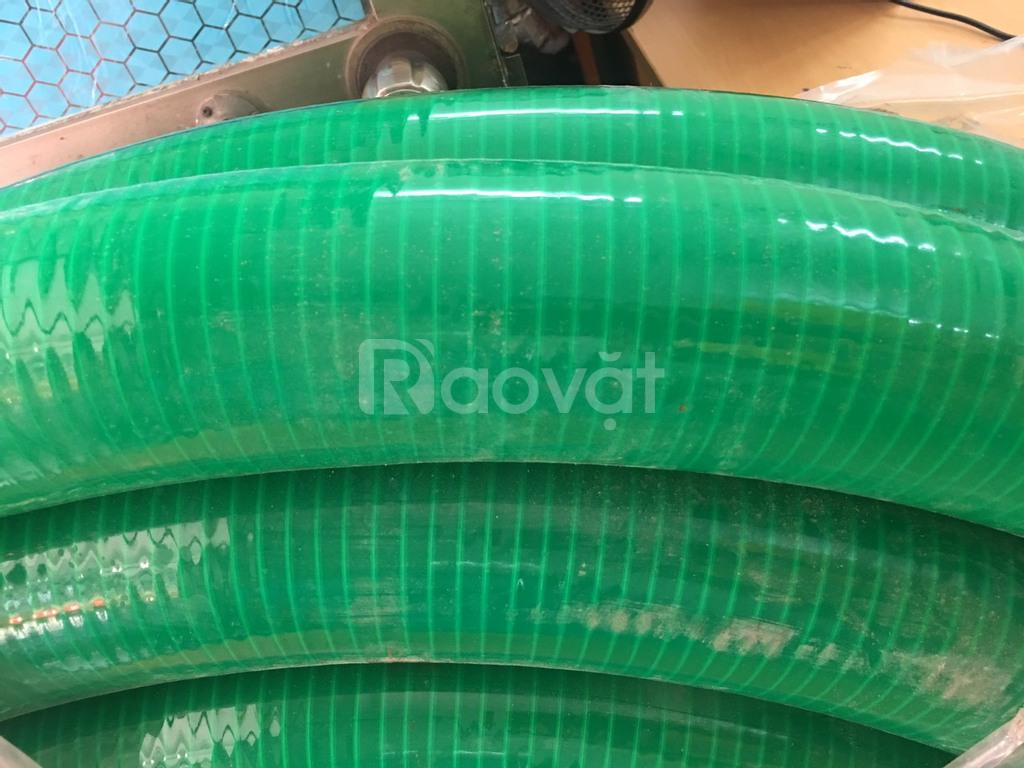 Nơi bán ống nhựa lõi thép màu xanh hút hóa chất phi 50, 60, 75mm.