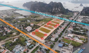 Bán lô góc 3 mặt tiền hướng vịnh Bái Tử Long đắt giá trong kinh doanh
