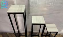Set kệ ghế mặt gỗ 3 kích thước chắc chắn, giá tốt