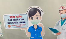Mockup mô hình nhân viên đón khách phòng chống dịch