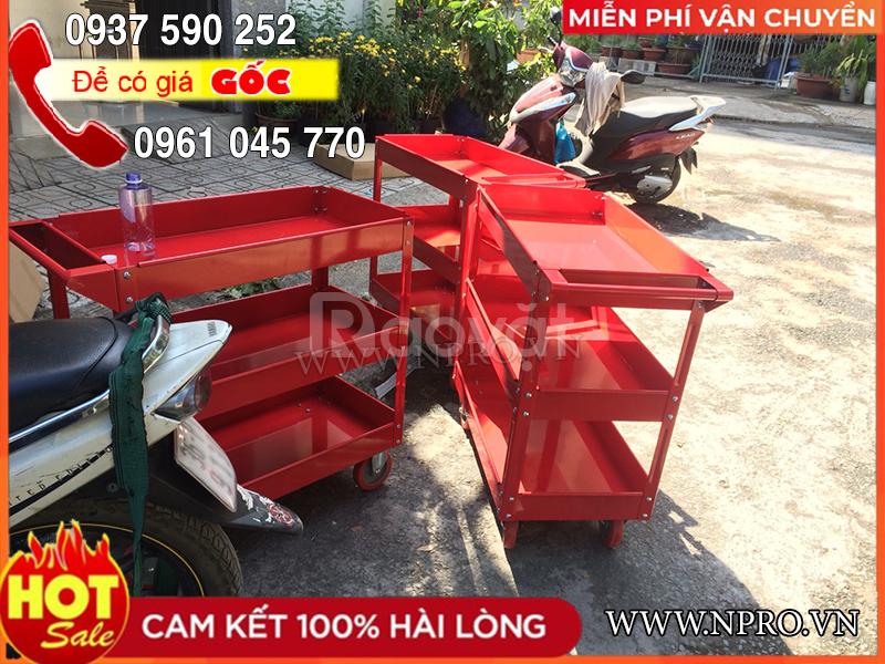 Xe đẩy dụng cụ 3 ngăn đựng đồ nghề sửa xe