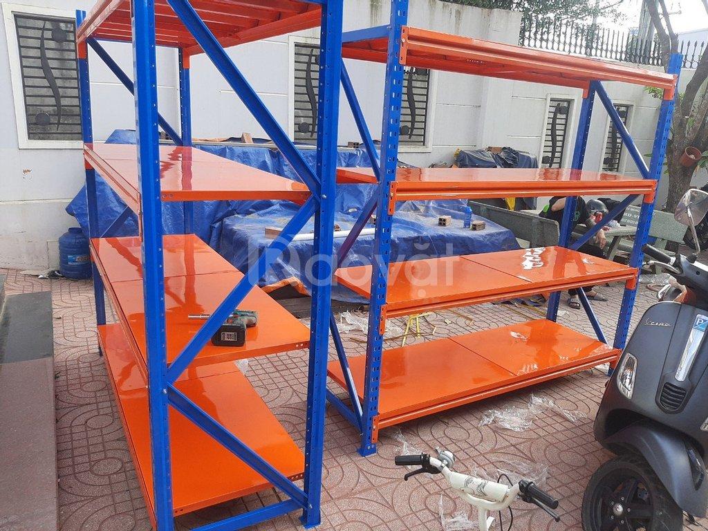 Kệ sắt để hàng nặng 4 tầng C2mxR0.6mxD2m hàng mới