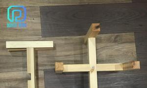 Đôn gỗ 2 thanh rời, tháo lắp dễ dàng