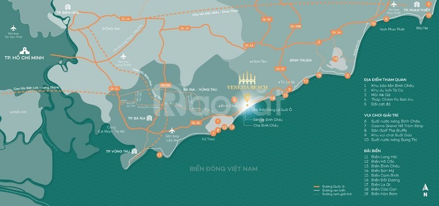 Biệt thự mặt biển sở hữu lâu dài tại Hồ Tràm Bình Châu