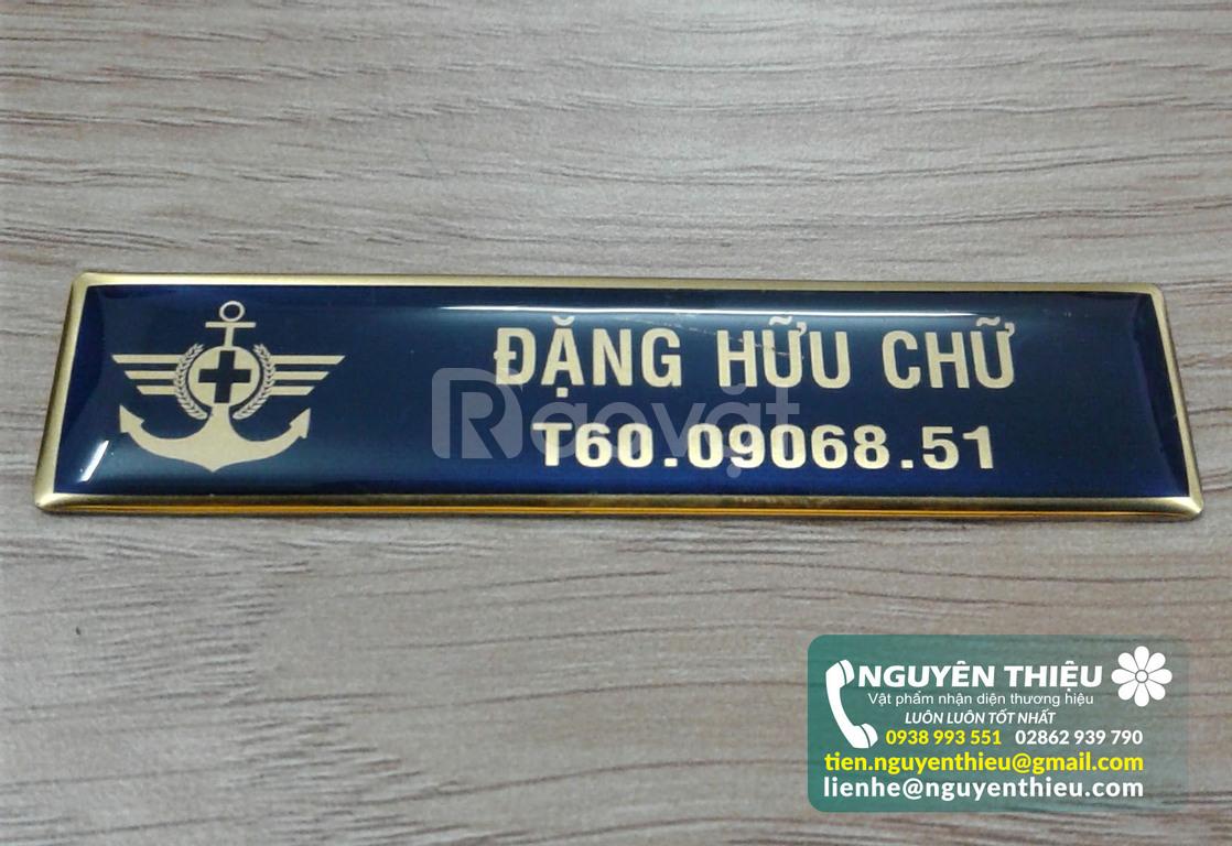 Xưởng sản xuất bảng tên nhân viên chất lượng, sản xuất bảng tên