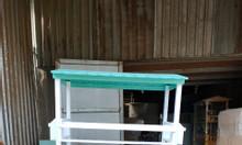 Tủ bán trà sữa chất liệu gỗ sơn màu sắc kết hợp đèn led nổi  bật