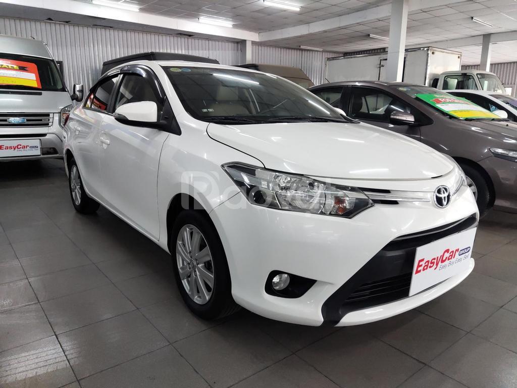 Bán xe Toyota Vios 1.5E MT, đời 2018, màu trắng