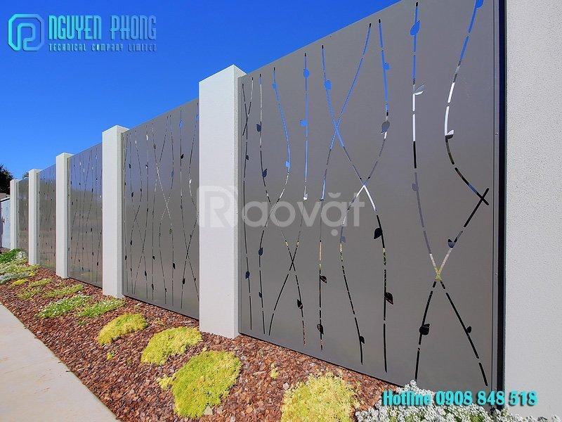 Nhận gia công, lắp đặt các mẫu hàng rào bảo vệ cnc sang trọng, an toàn