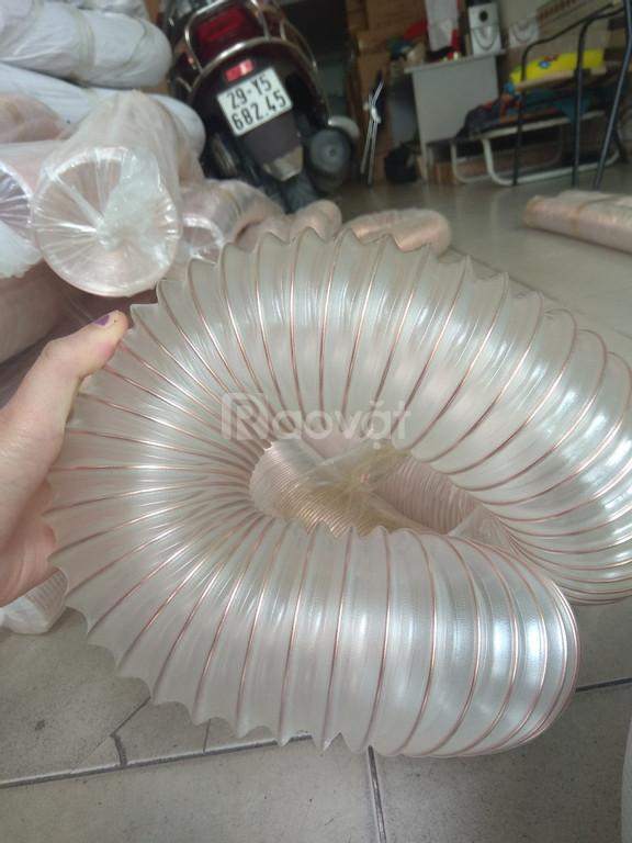 Ống hút bụi gỗ nhựa pu lõi đồng dùng cho máy cnc d100, d114, d120