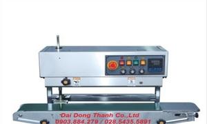 Máy hàn miệng bao băng tải liên tục FRD-1000WL sử dụng cho bao đứng