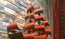 Thuyền buồm trang trí gỗ hương giá tại xưởng