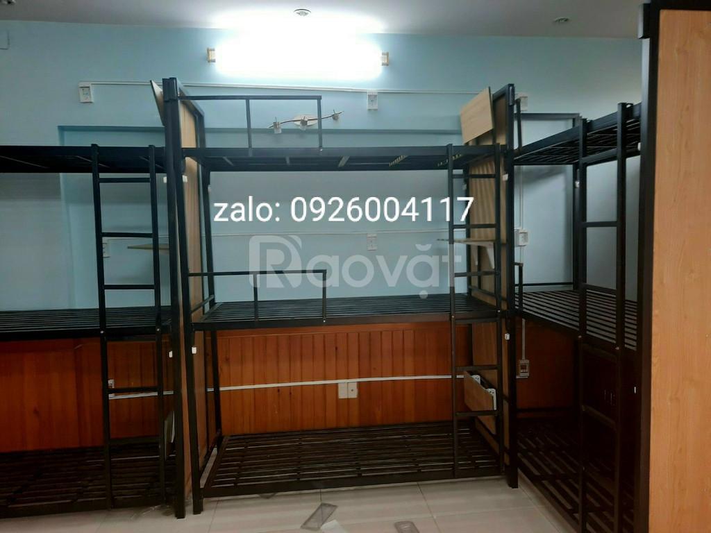 Giường tầng sắt hộp giá rẻ tại xưởng
