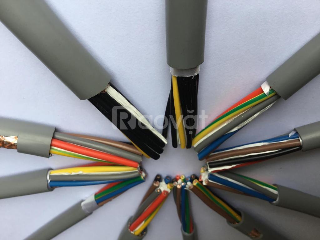 Cáp điều khiển 10 lõi 0.5mm2, 0.75mm2, 1.0mm2, 1.5mm2 không lưới