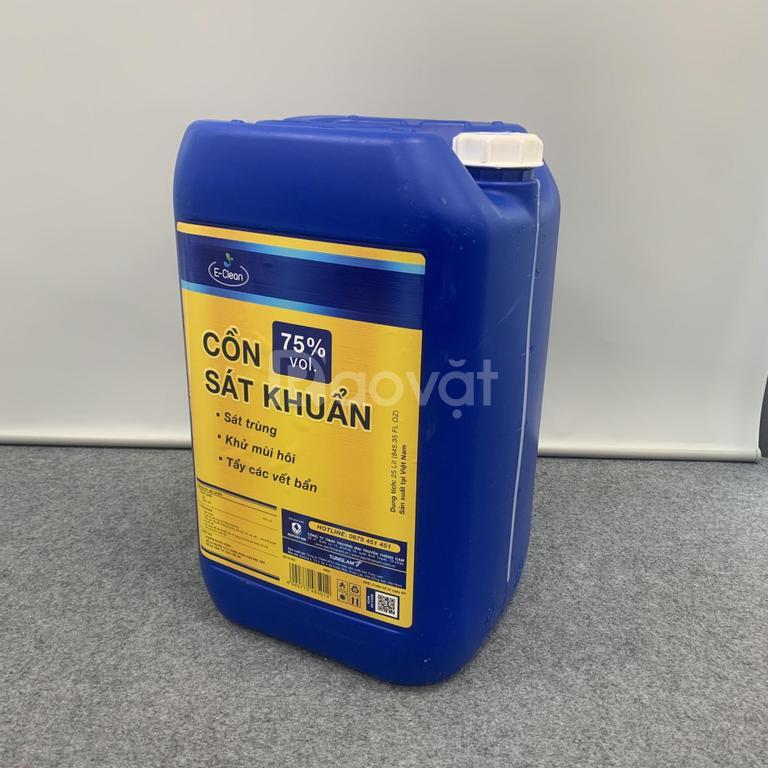 Cồn sát khuẩn E Clean 75% vol loại 2L, 5L, 10L, 25L