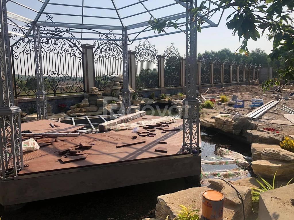Lắp đặt hàng rào bảo vệ bằng sắt bằng nhôm tại nhà
