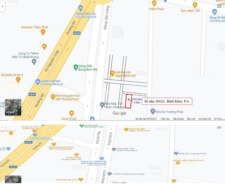 Bán nhà số 369A1, Bình Khởi, P6, TP Bến Tre 206m2