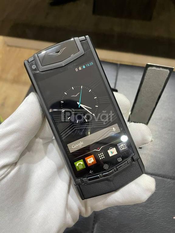 Vertu touch ti pure black like new zin 100%