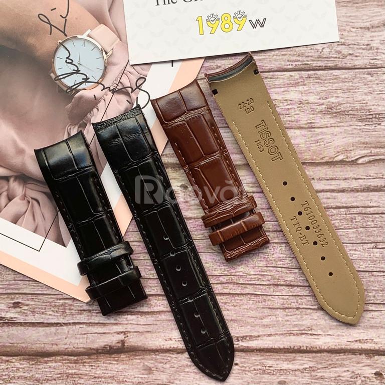 Dây da đồng hồ Tissot giá rẻ, BH 12T