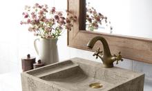 Bồn rửa mặt lavabo đá cuội tự nhiên, chậu rửa tay bằng đá cẩm thạch