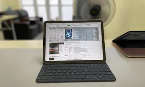 Combo iPad Air 4 wifi rose gold và Apple Smart Keyboard chính hãng