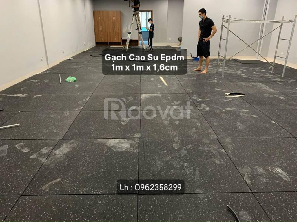 Gạch cao su sàn gym mặt thảm Epdm