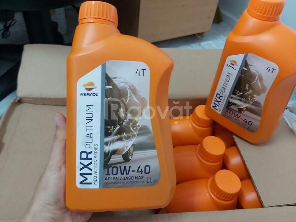 Dầu nhớt xe côn tay Repsol MXR Platinum 10W40