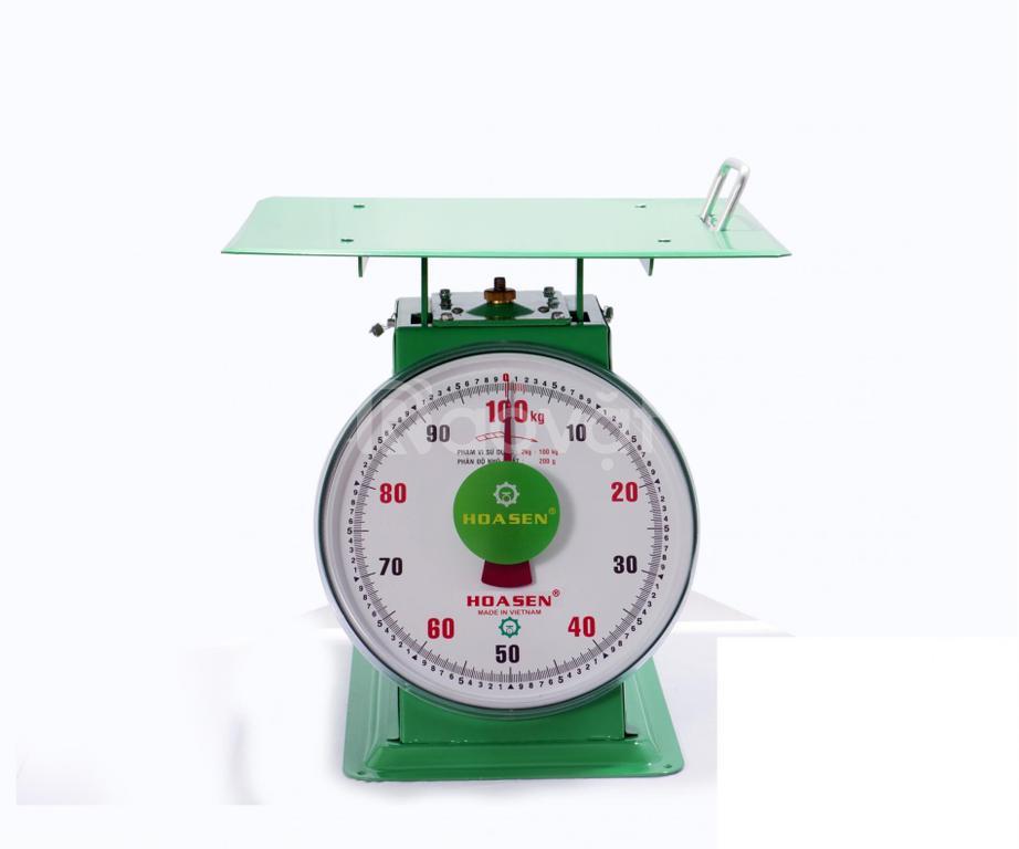 Cân đồng hồ lò xo Hoa Sen 100kg, cân lò xo 100kg, cân nhà bếp 5kg