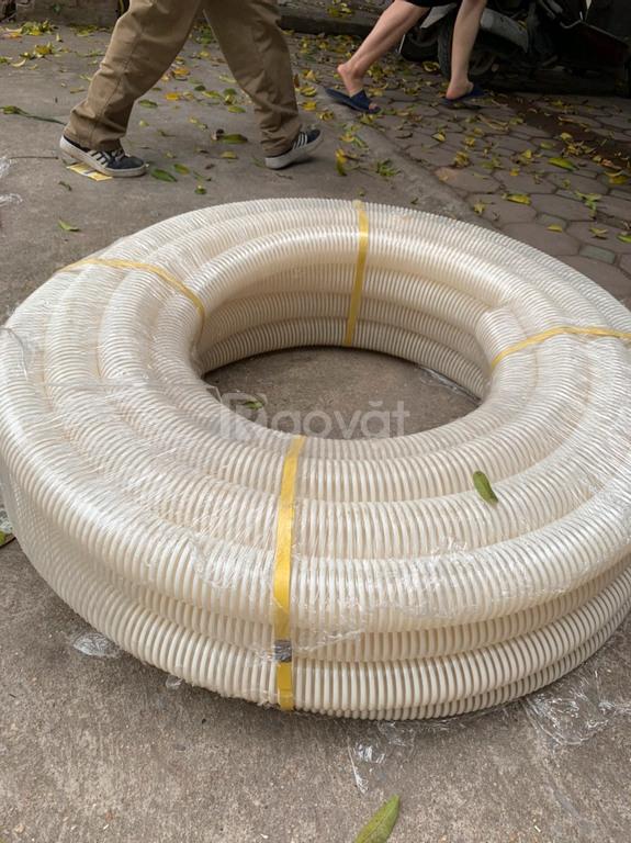 Ống gân nhựa trắng,ống gân cổ trâu nhựa PVC phi 60 hút trấu,hút bụi