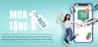 Ưu đãi: Mua một ngày quảng cáo trên trang chủ VnExpress, tặng một ngày quảng cáo trên trang chủ Rao Vặt