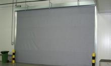 Cửa thép chống cháy màu ghi, màn cuốn vải ngăn cháy ngăn khói