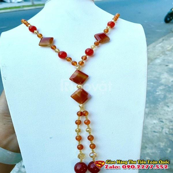 Phụ kiện áo dài vòng cổ nữ đẹp giá rẻ đá tự nhiên, miễn phí giao hàng