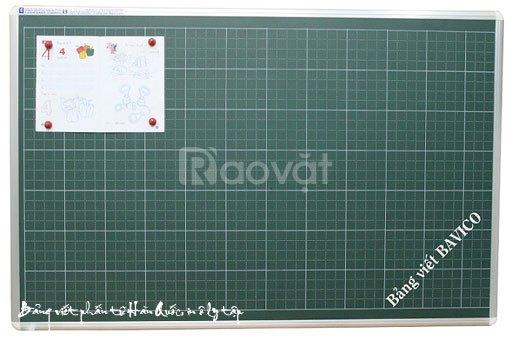Bảng học sinh viết phấn từ Hàn Quốc in ô ly tiểu học Kt 120x360