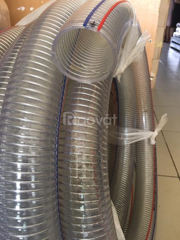 Ống nhựa lõi thép hút bể phốt phi 50, phi 60, phi 75
