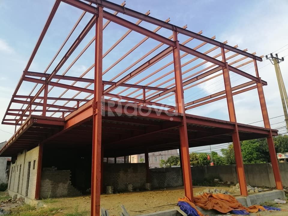 Nhận làm nhà mái tôn khung kèo mái