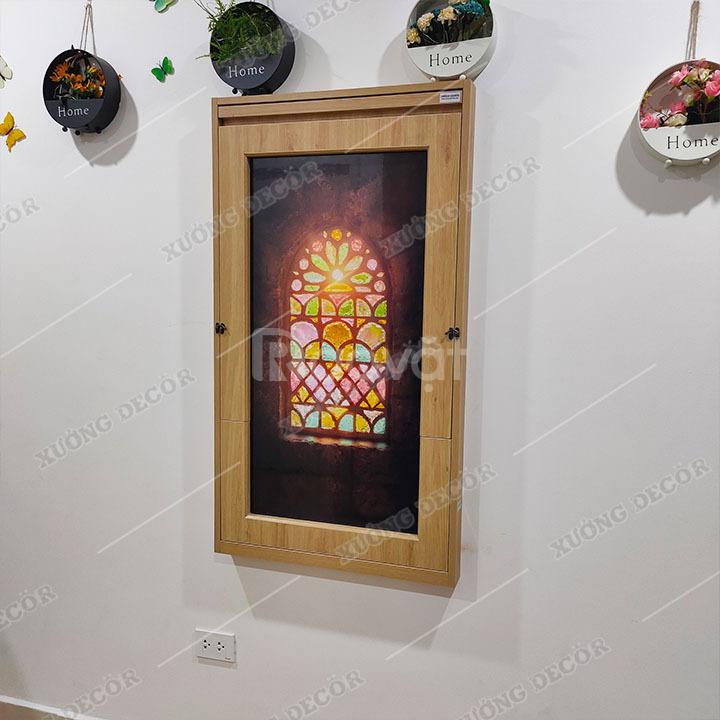 Bàn gấp khung tranh 60x120cm gỗ cốt thường có khung viền