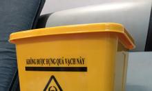 Thùng đựng rác y tế 10L màu vàng