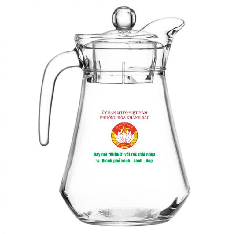 Bộ ly thuỷ tinh in logo công ty làm quảng cáo ở Đà Nẵng