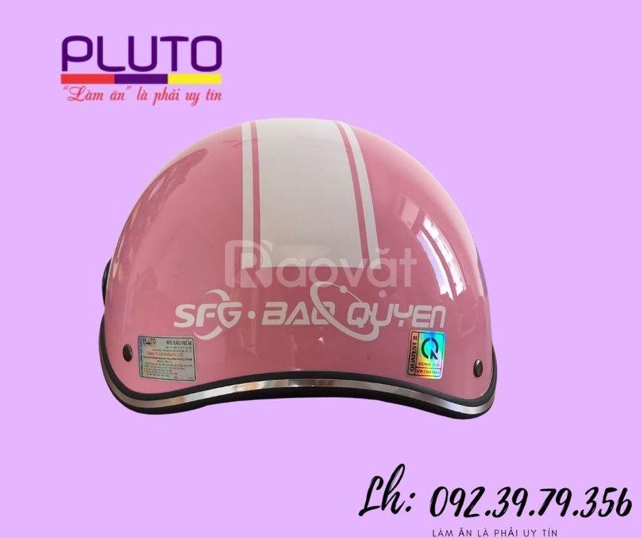 Mũ bảo hiểm in logo quảng cáo theo yêu cầu ở tp