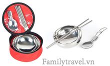 Bát ăn cá nhân 3 món chất liệu inox cao cấp