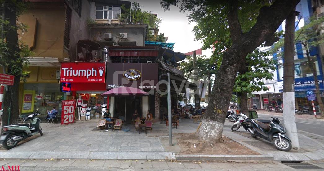 Mảnh đất vàng phố Bà Triệu, 162m2, khu phố kinh doanh sầm uất