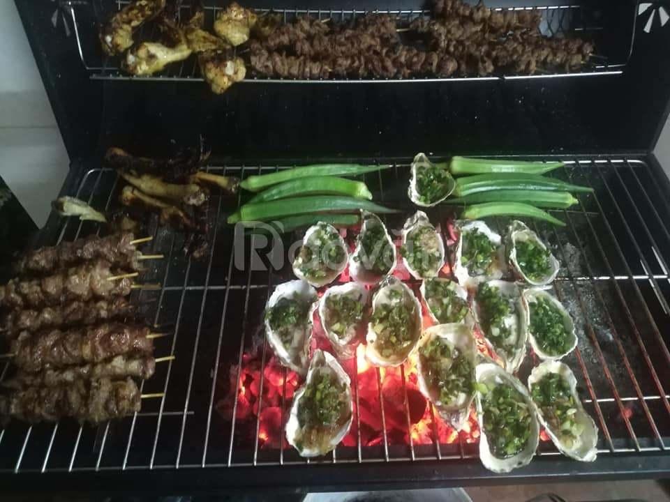 Bếp nướng ngoài trời Barrel Charcoal Barbecue hàng xuất Châu Âu