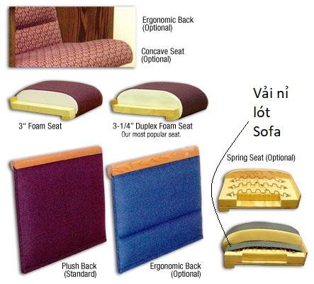 Vải nỉ PE, PP, vải kubu dùng để bọc lót sofa