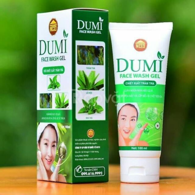 Sửa rửa mặt Dumi Face Wash Gel